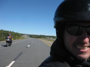 David Estes from Bangor met me in Moncton! Thanks Dave! Here we are ripping through New Brunswick