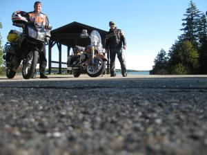 I usually ride Route 9, but Dave took me on some awesome roads along route 1. Here we are visiting Cobscook State Park.