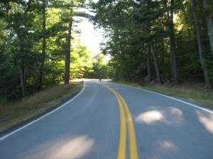 Dave is ahead of me - what a great day for riding! Beauty roads in coastal Maine.