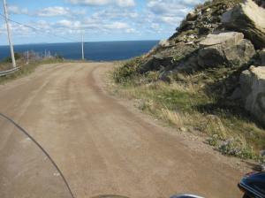 It's pretty clear that your Nova Scotia Motorcycle trip has reached its' most northerly point... unless you've got a snorkel :)