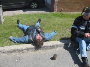 This is Big B from Merigomish, NS.  It is possible to drop him.  All you need is a few bottles of whiskey and a dozen beer.