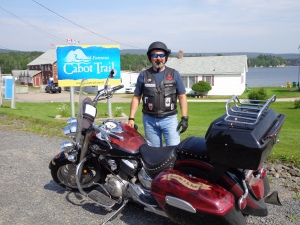 Frank Caridi at the CCW entrance to the Trail.  Looks like a pretty good day to ride!