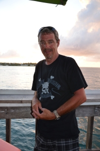 Ron Irving is my great friend who I see every September on my trip down to Maine - Always helping raise money for my 911 run.  Wearing the shirt in Key West.