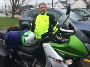 First Rider Spotted 2014 - Marc Hills from Cumberland, Maine on his pimped out KLR 650.