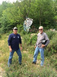 "Rugged bikers do Meat Cove!  ""That's me on the left and Jim on the right.""  Boyd Mitchell, Atkinson, Nebraska"