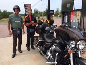 Glen and Karen Benson, New York, USA.  Met them at the gas station close to my house.  They had the motorcycle tour guide - hope they find the Coastal Restaurant!