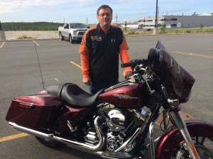 Jim Misener, Halifax. Mile zero - Just bought his bike and hasn't traveled an inch yet.  Remember that feeling?