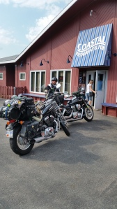 Charlene and Hubby park at the Coastal - nice bikes!