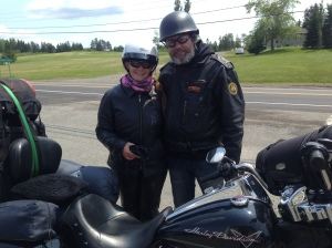 Sylvain Gilbert and Lynda Soucy. From Trois-Rivieres, province of Quebec. Loving the Road King (I'm a fan).