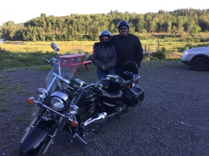Brian & Annemarie, from Sydney, Enjoy the Cabot Trail in their own backyard. Annemarie is a little nervous on the back but I'm sure she'll be up Cape Smokey in no time!