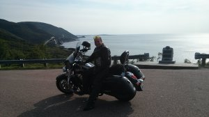 Craig on the West Coast of Cape Breton Island. What a day! Did you ever have a day like this on the Trail? Craig Flieger, 2010 - 1700 Vulcan