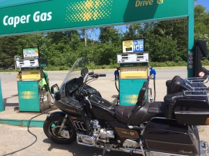 just made it to Caper Gas as the last bar on his fuel gauge was blinking 'You're almost empty dude!""