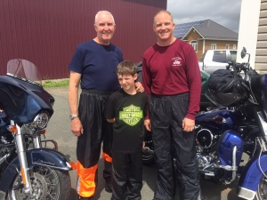3 generations of Ed Ackerly's! From New Hampshire and formally of New York. Young Ed is only 10 on this big ride - he's the youngest I've met! Dad Ed is joining us on the 911 this year! Awesome!