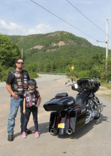 Angela and Taras from New York. Taras read the site and knew to stop at the base of Cape Smokey! Nice work!